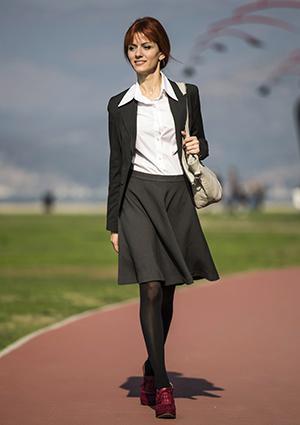 Woman wearing urban skirt