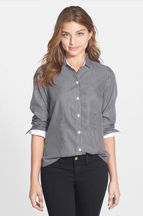 Foxcroft Pinstripe Shirt