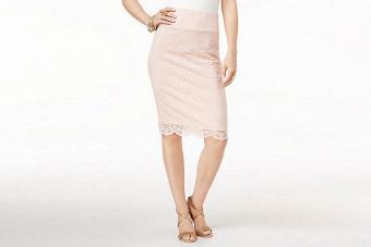 Thalia Sodi Lace Pencil Skirt