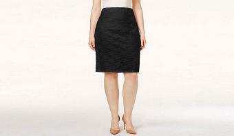 Alfani Plus Size Lace Pencil Skirt