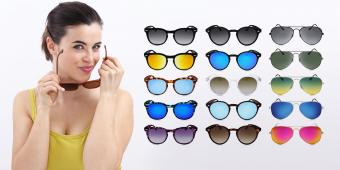 Woman and colorful sunglasses