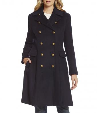 Lauren Ralph Lauren Wool-Blend Military Coat