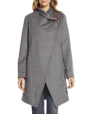 Lauren Ralph Lauren Cutaway Wool Blend Coat