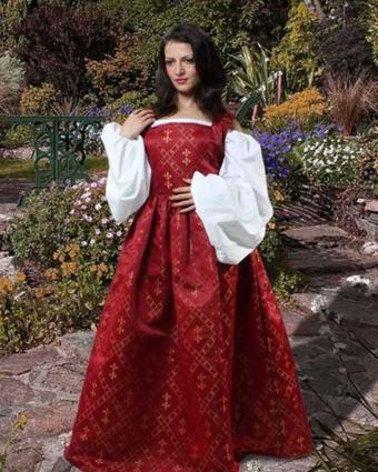 Tudor Dressing - The Pirate Dressing Women's Renaissance Medieval Fleur de Lis Costume