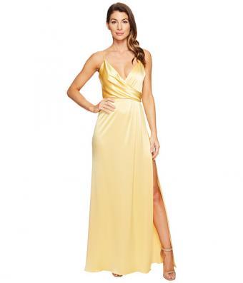 Satin Back Crepe Slip Dress
