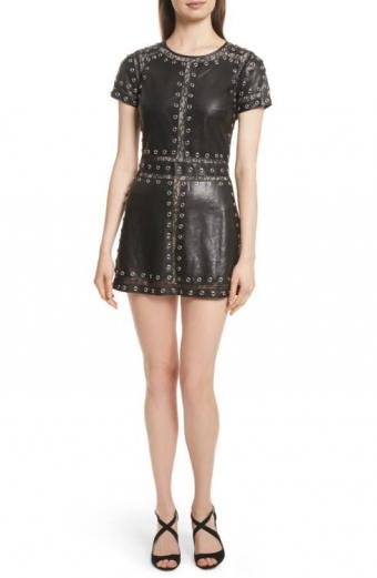 Tahlia Embellished Leather Dress from Alice + Olivia