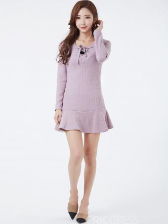 Ericdress Sweet Above Knee Mermaid Sweater Dress