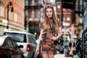 woman New York street style fashion