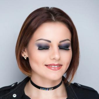 Woman wearing choker