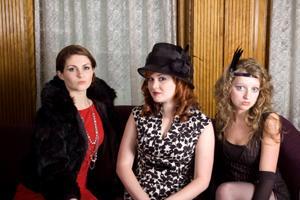 Women wearing 1920s fashions