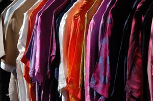 A rack full of dressy blouses