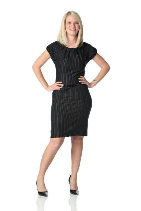 pin striped black dress