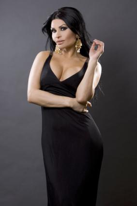 Woman wearing a black evening gown; copyright Zdenka Darula at Dreamstime.com
