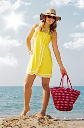 Yellow towel dress