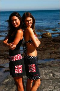Teen girls in trunk swimsuit bottoms from Trunkettes