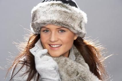 Fur hat and scarf