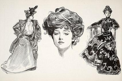 Gibson Girl illustrations