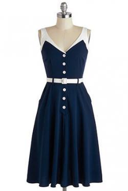 Sense of Tasteful Dress in Navy