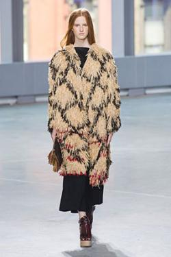 Proenza Schouler Fringe Embellished Coat at Spring 2014 New York Runway Show
