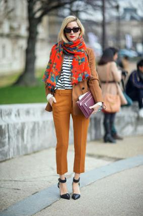 Woman in layered modern street style clothing