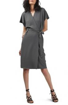 Topshop Crepe Wrap Dress