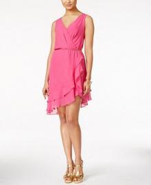 Thalia Sodi Faux Wrap Dress