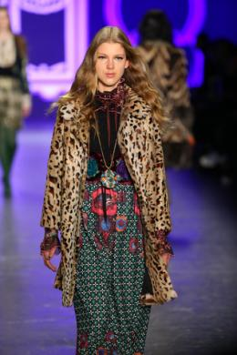 animal print coat by Anna Sui