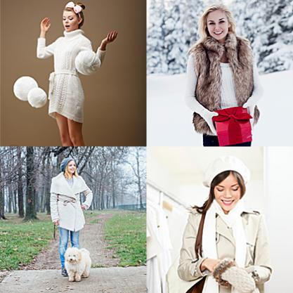 Examples of women wearing white