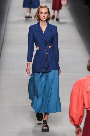 Model at Fendi fashion show