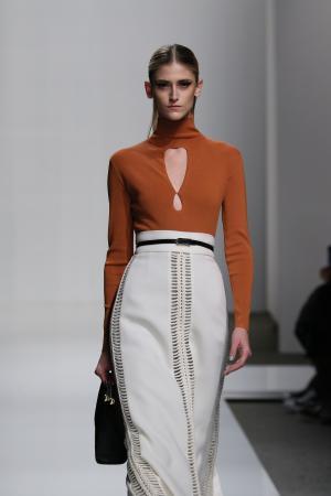 Model at Zimmermann fashion show