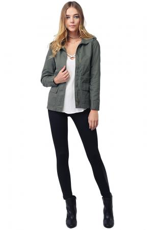 MBE Women's Military Zip Up & Button Closure Hooded Jackets