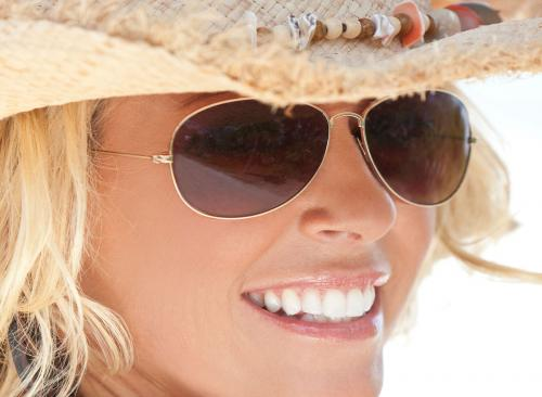 Girl In Aviator Sunglasses