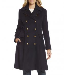 Lauren Ralph Lauren Wool-Blend Military Coat