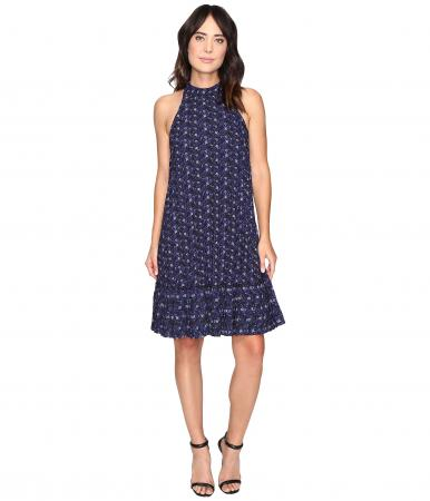 Nicole Miller Royal Ditzy Pleated Dress