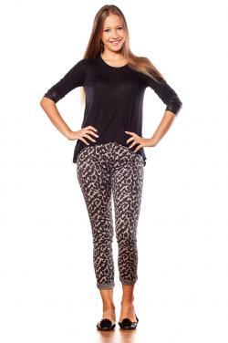 Leopard leggings with black top