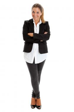 Blouse with blazer and leggings