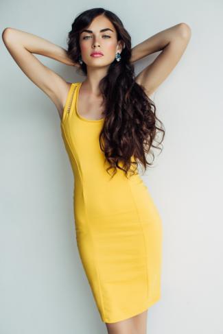 Woman wearing yellow