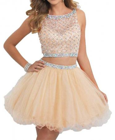 Two Piece Short Prom Dress