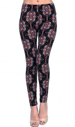 ViV Collection Printed Brushed Leggings Shockify Regular