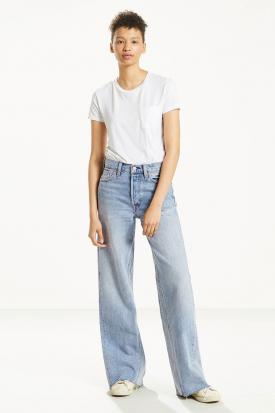 Altered wide leg jeans