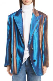 Two-Tone Lamé Blazer from Dries Van Noten