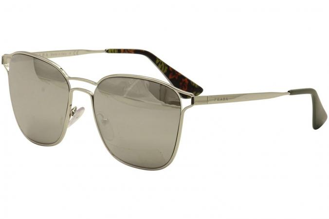 Prada Square Frame Mirrored Sunglasses