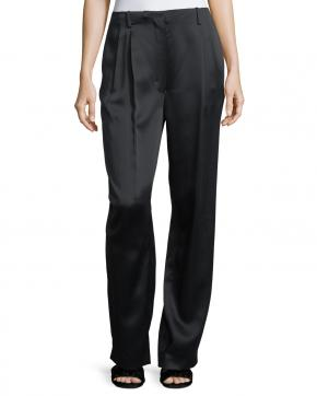 The Row Firth Satin Wide Leg Pant