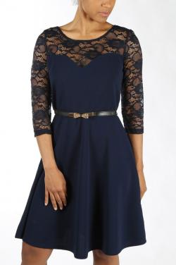 Lace Sleeve Cocktail Dress