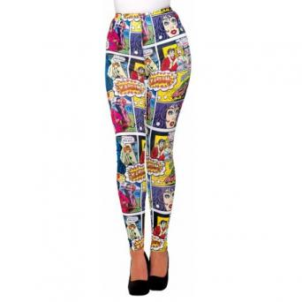 Pop Art Comic Print Leggings