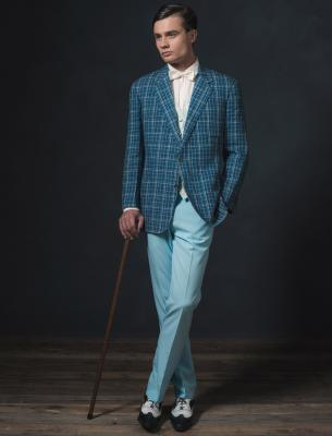 dapper man in Gatsby-style clothing