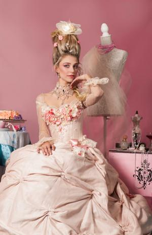 Portrait of Marie Antoinette in pink
