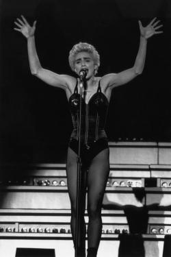 Pop singer Madonna in concert