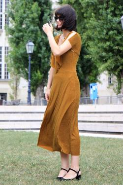 Free flowing and elegant tea dress