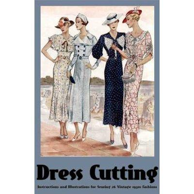 30s fashions dress cutting